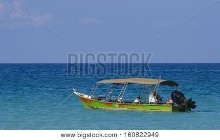 Boat at Perhentian Kecil Island Terengganu Malaysia.