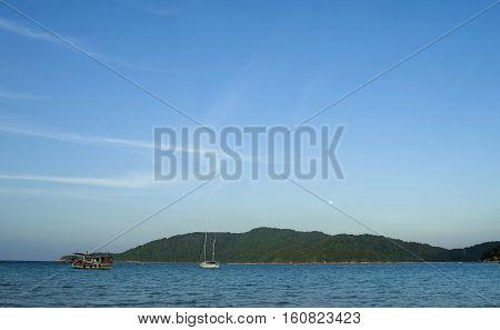 Beautiful evening scene at Perhentian Kecil Island Terengganu Malaysia.