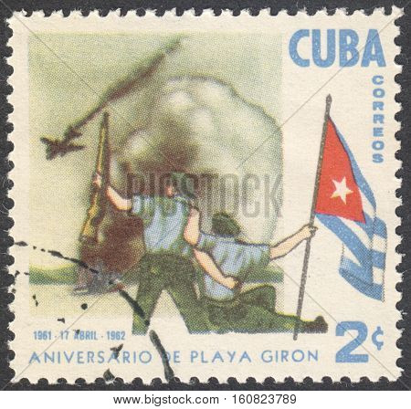 MOSCOW RUSSIA - CIRCA NOVEMBER 2016: a post stamp printed in CUBA the series