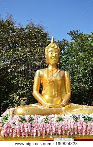 Buddha Statue Buddhist Temple On Phra Tmanak Hill