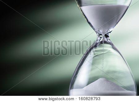 Sand Running Through An Hourglass