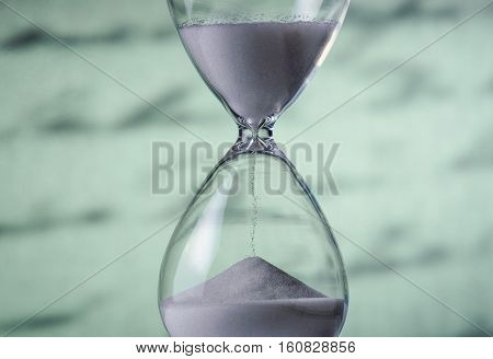 Sand Running Through An Hourglass