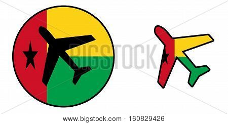 Nation Flag - Airplane Isolated - Guinea-bissau