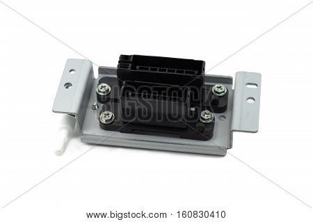 Electric connector signal connector with bracket isolated on white background