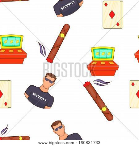 Casino and gambling pattern. Cartoon illustration of casino and gambling vector pattern for web
