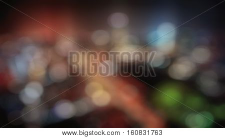 Colorful bokeh background. DEfocused lights of different colors picture