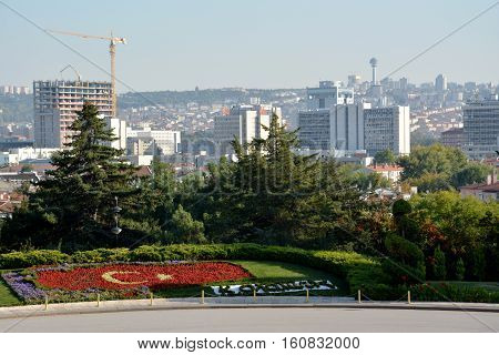 Ankara, Turkey. October 5Th 2016 - View Of Ankara From The Ataturk Mausoleum, Anitkabir, Monumental