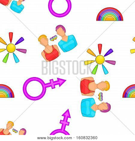 Gay woman couple symbol pattern. Cartoon illustration of gay woman couple symbol vector pattern for web