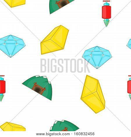 Mining pattern. Cartoon illustration of mining vector pattern for web