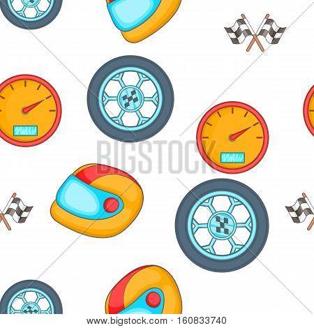 Racing elements pattern. Cartoon illustration of racing elements vector pattern for web
