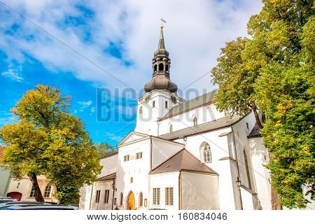 View on the cathedral of Saint Mary the Virgin in Tallinn. It is the oldest church in Estonia