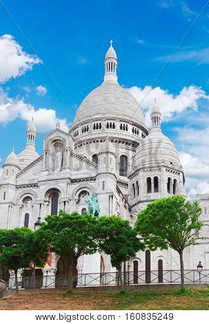 world famous Sacre Coeur church at spring, Paris, France