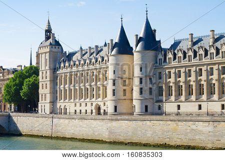facade of La Conciergerie - ex royal palace and prison, Paris, France