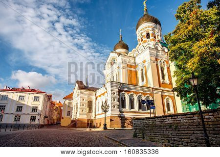 Saint Alexandr Nevsky church in the old town of Tallin, Estonia