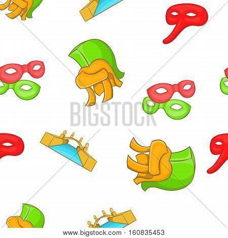 Italy culture elements pattern. Cartoon illustration of Italy culture elements vector pattern for web