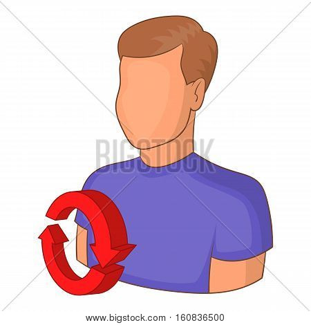 Job interview icon. Cartoon illustration of job interview vector icon for web