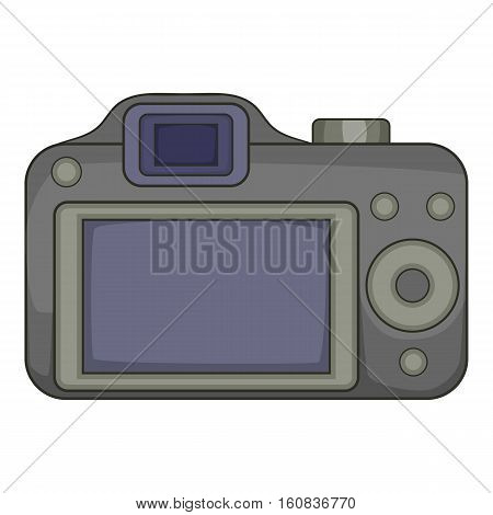 Photocamera icon. Cartoon illustration of photocamera vector icon for web