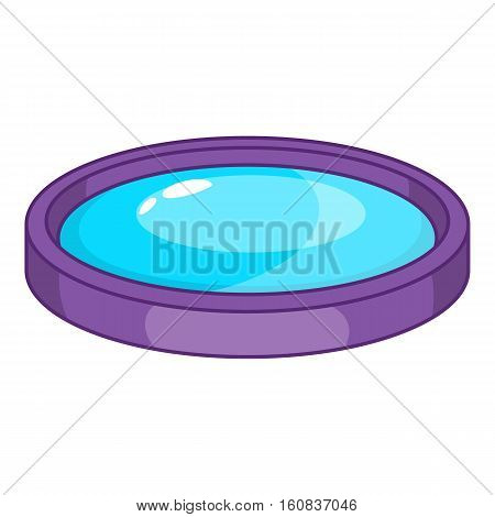 Lens icon. Cartoon illustration of lens vector icon for web