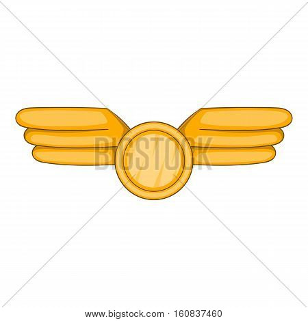 Aviation emblem icon. Cartoon illustration of aviation emblem vector icon for web