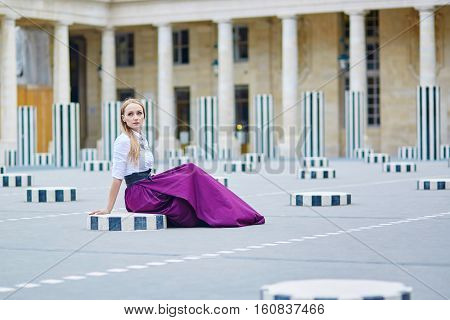 Beautiful Young Woman In Palais Royal
