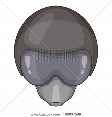 Pilot helmet icon. Cartoon illustration of pilot helmet vector icon for web
