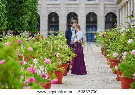 Romantic Couple In Paris