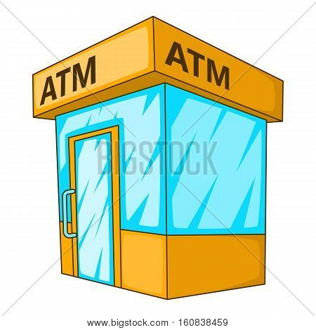 ATM icon. Cartoon illustration of ATM vector icon for web