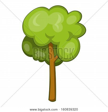 Tree icon. Cartoon illustration of tree vector icon for web