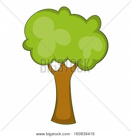 Green tree icon. Cartoon illustration of green tree vector icon for web