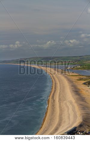 The Chesil Beach, Seen From Portland Bill.