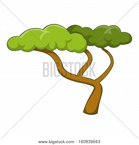 Low tree icon. Cartoon illustration of low tree vector icon for web