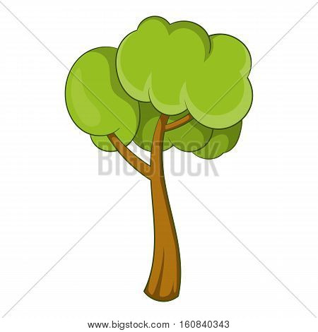 Small tree icon. Cartoon illustration of small tree vector icon for web
