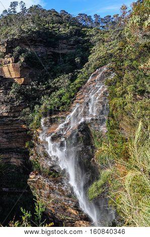 Wentworth Falls In Blue Mountains, Australia