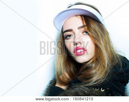 Sexy Pretty Girl In Cap
