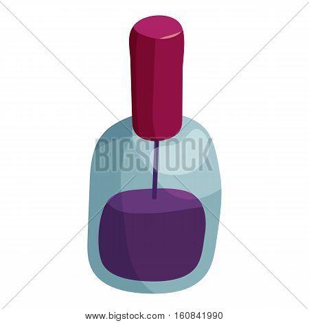 Nail polish icon. Cartoon illustration of nail polish vector icon for web