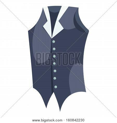 Waistcoat icon. Cartoon illustration of waistcoat vector icon for web