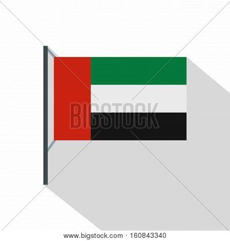 Dubai flag icon. Flat illustration of dubai flag vector icon for web