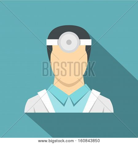 Oculist icon. Flat illustration of oculist vector icon for web