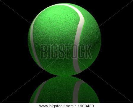 Tennis Ball On Black