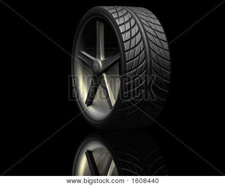 Tire On Black