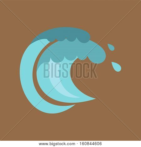 Tenth wave icon. Cartoon illustration of tenth wave vector icon for web