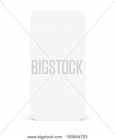 Template for smart phone screen. Isoalted on white. 3D illustration
