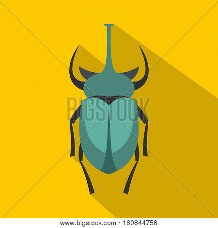 Big beetle icon. Flat illustration of big beetle vector icon for web