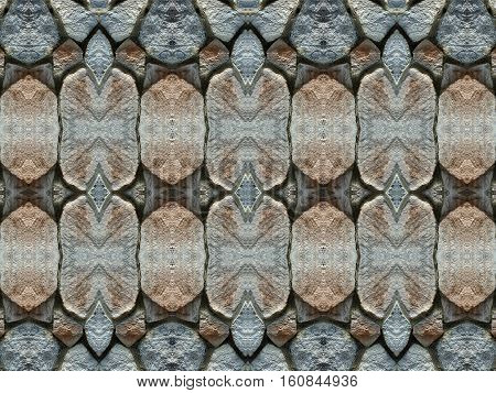 Stone wall background pattern. Old paving stones abstract background.