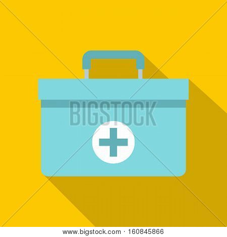 Medicine chest icon. Flat illustration of medicine chest vector icon for web