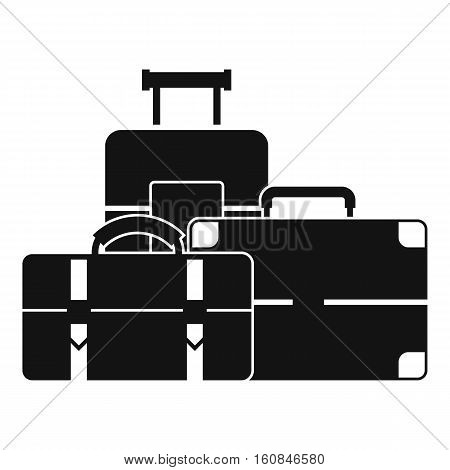 Baggage icon. Simple illustration of baggage vector icon for web