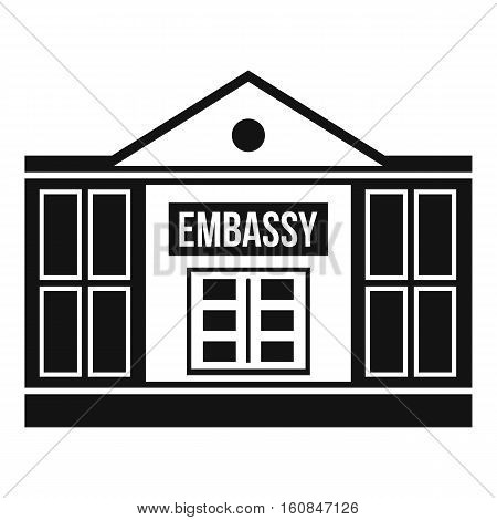 Embassy icon. Simple illustration of embassy vector icon for web