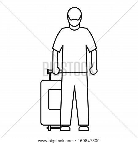 Arabic man icon. Outline illustration of arabic man vector icon for web