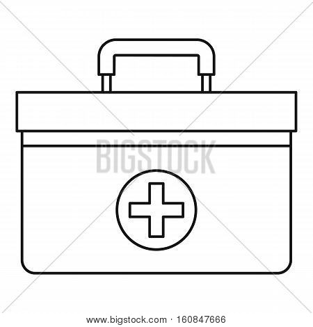 Medicine chest icon. Outline illustration of medicine chest vector icon for web