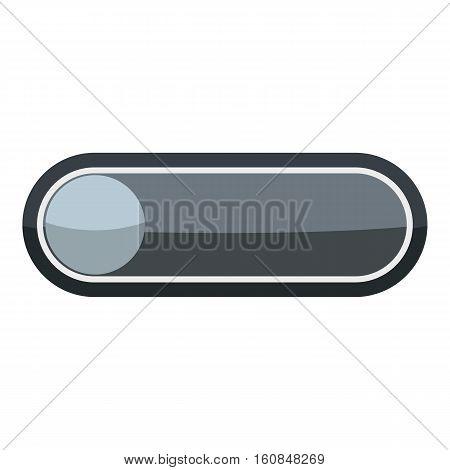 Player round button icon. Cartoon illustration of player round button vector icon for web